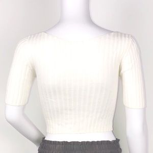 Free People Tops - Free People Ivory Little Cutie Cropped Cardigan XS